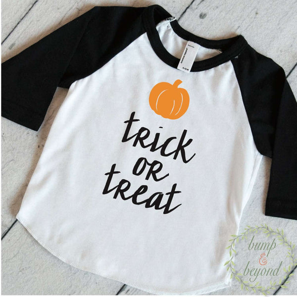 Toddler Halloween Shirt, First Halloween Boy, Trick or Treat Shirt, My First Halloween Outfit, Baby Halloween Shirt, 1st Halloween 026 - Bump and Beyond Designs