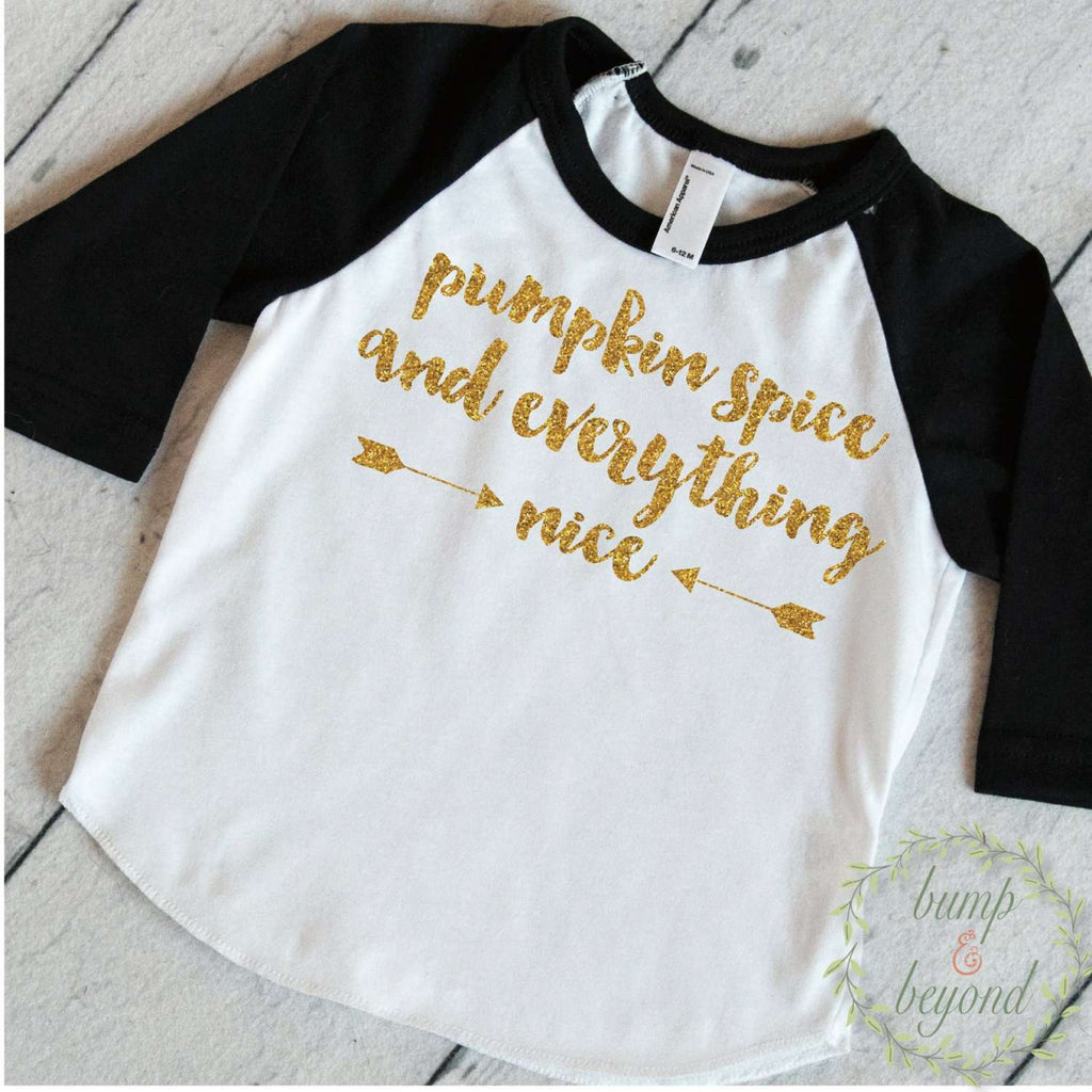 Fall Baby Girl Clothes, Pumpkin Spice and Everything Nice Baby Girl Outfit, Fall Baby Clothes, Thanksgiving Shirt 036 - Bump and Beyond Designs