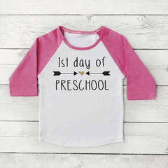 1st Day of Preschool Shirt, Double Arrow - Bump and Beyond Designs