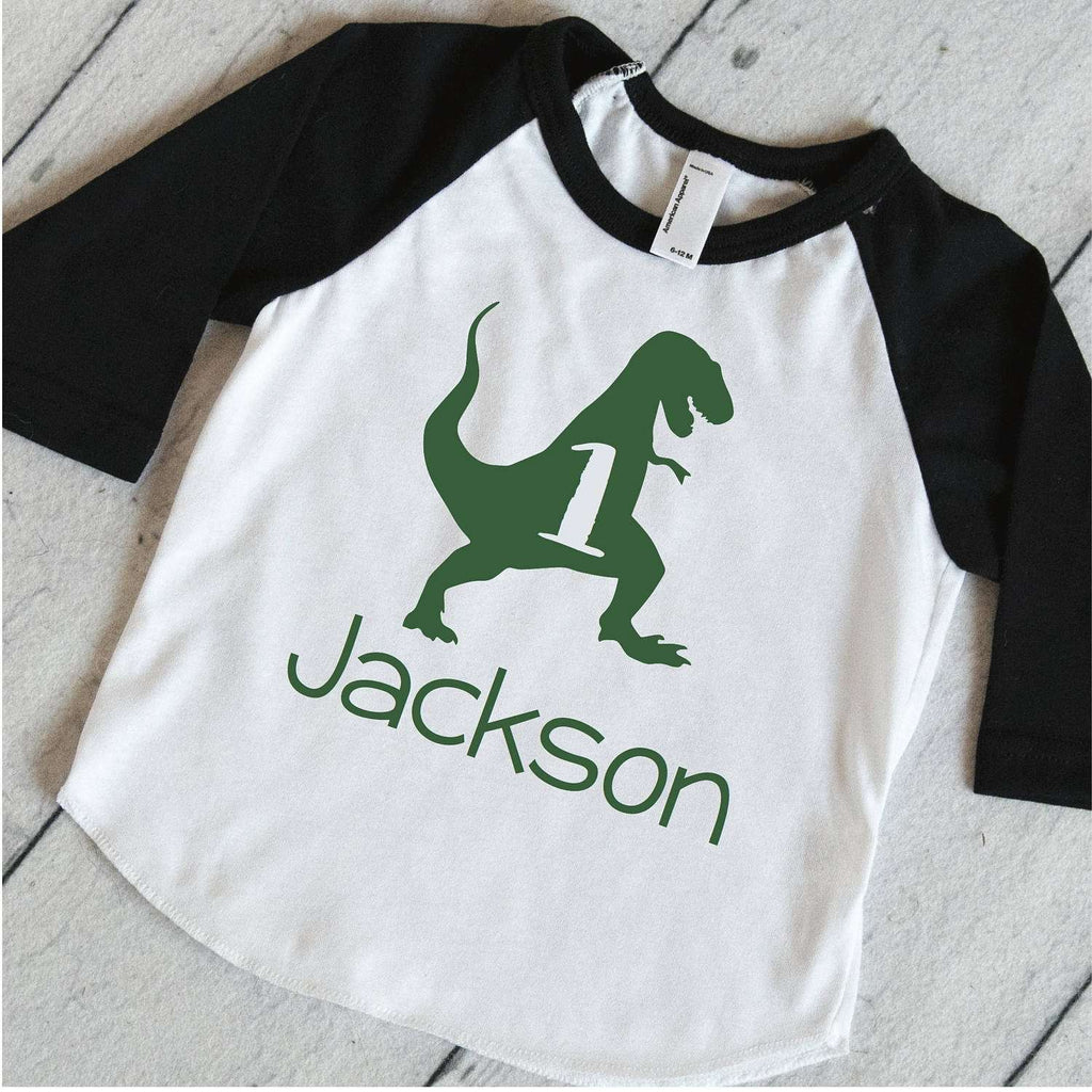 Personalized 1st Birthday Shirt Kids Outfit Boys Dinosaur S Bump And Beyond Designs