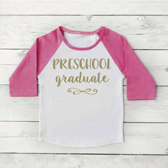 Preschool Graduation Shirt Girl Last Day of School Shirt 296