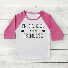 Preschool Princess Shirt, Preschool Shirt, Girl 1st Day of School Photo Prop 304