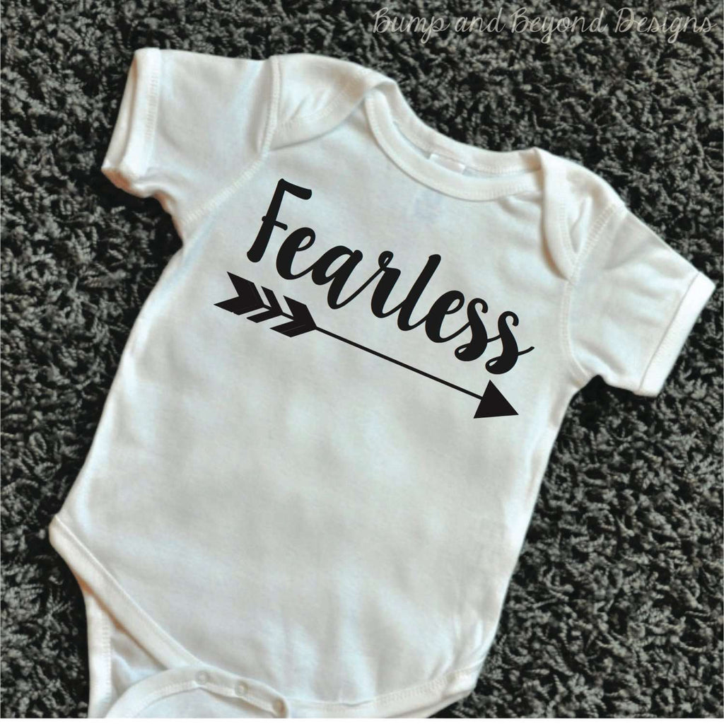 Hipster Baby Clothes Fearless Shirt Baby Girl Clothes Baby Shower Gift Arrow Bodysuit Hipster Baby Clothes 079 - Bump and Beyond Designs