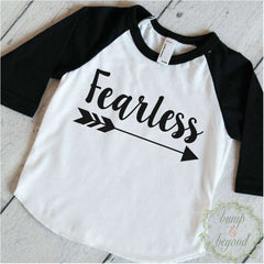 Baby Boy Clothes Fearless Baby Boy Hipster Shirt Raglan Arrow Hipster Baby Clothes 079 - Bump and Beyond Designs