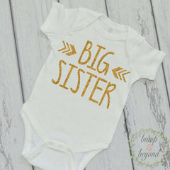 Big Sister Shirt Little Sister Shirt Sibling Shirts Glitter Sister Shirts Pregnancy Announcement Shirt Baby Announcement Photo Prop Shirt 15 - Bump and Beyond Designs