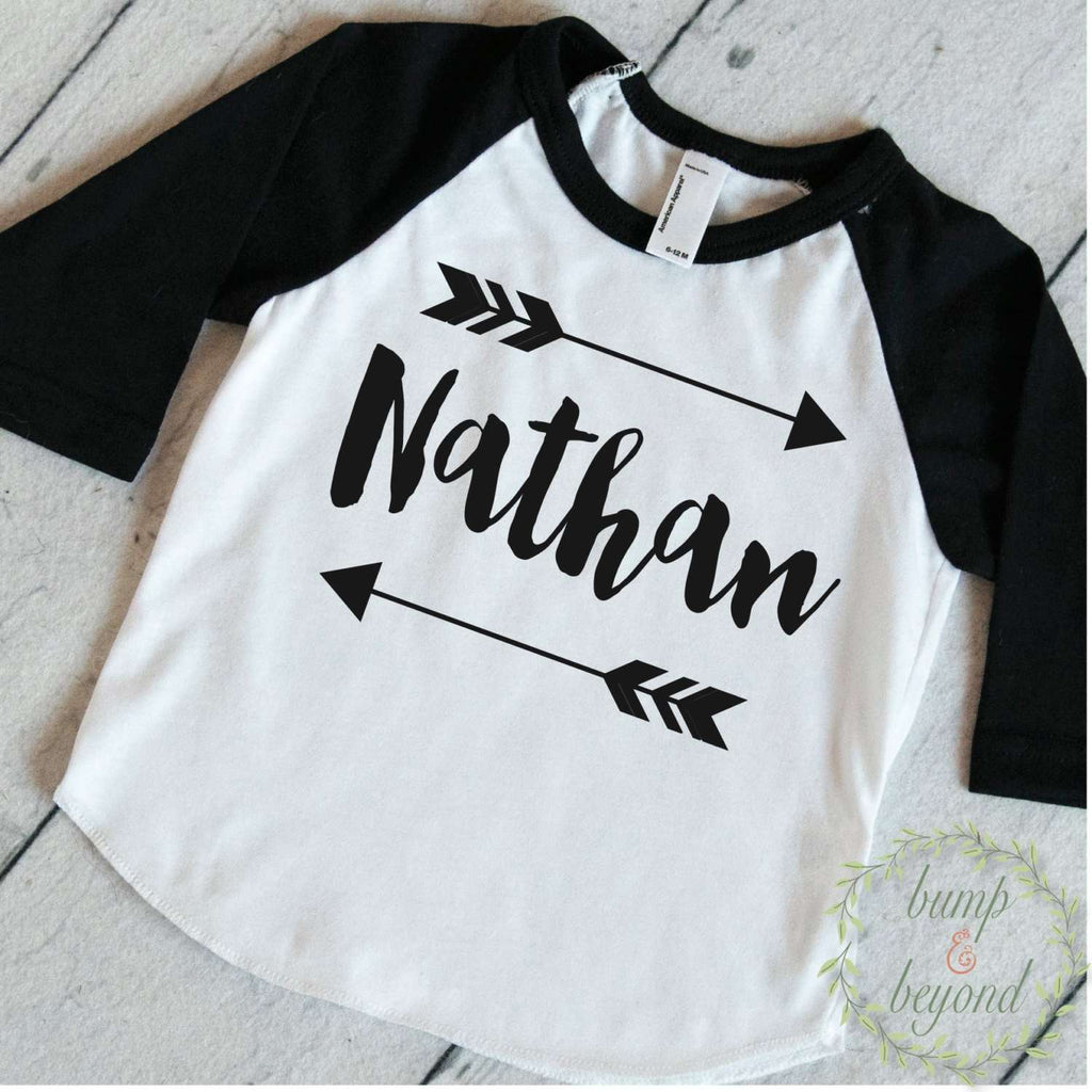 Baby Boy Clothes Personalized Name Shirt Hipster
