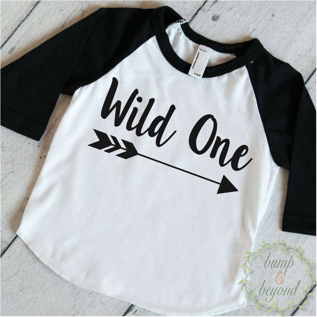 First Birthday Outfit Boy Wild One 1st Shirt Arrow Hipster Raglan Toddler