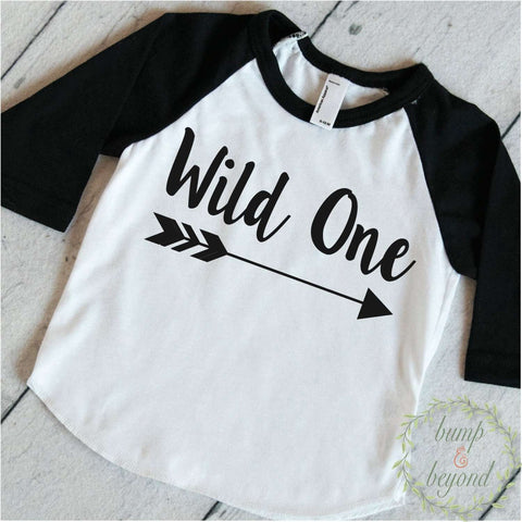 First Birthday Outfit Boy Wild One 1st Birthday Outfit Boy Birthday Shirt Arrow Hipster Raglan Toddler Boy Clothes 111 - Bump and Beyond Designs