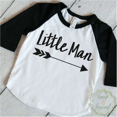 Baby Boy Clothes Little Man Baby Boy Shirt Hipster Baby Clothes Boy Shirt Raglan Arrow Toddler Hipster Baby Clothes 112 - Bump and Beyond Designs