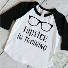 Baby Boy Clothes Hipster Boy Clothes Boy Shirt Raglan Hipster in Training Boy Outfit Novelty Boy Clothes Hipster Baby Clothes 113 - Bump and Beyond Designs