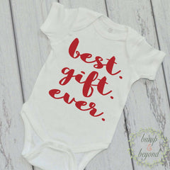Baby Girl Christmas Outfit Newborn Christmas Outfit Baby's 1st Christmas Best Gift Ever Red White Christmas Kids Christmas Outfit 05 - Bump and Beyond Designs