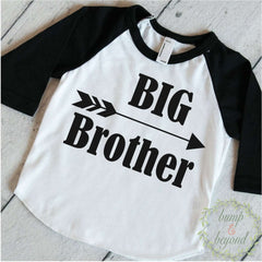 Big Brother Shirt Baby Announcement Shirt Boy Sibling Shirts New Baby Announcement Shirt Big Brother Raglan Arrow Hipster Shirt 108 - Bump and Beyond Designs