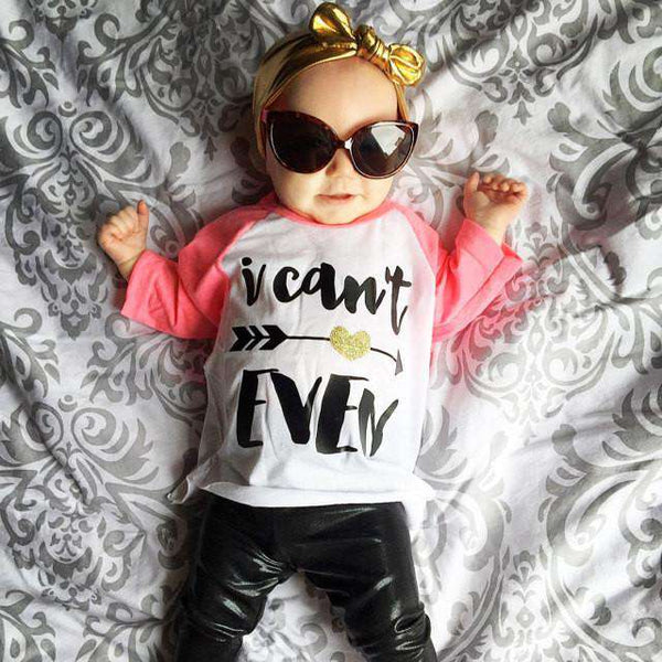 I Can't Even Shirt Girl Raglan Shirt Hipster Baby Clothes Baby Girl Clothes Hipster Shirt Baby Shower Gift 053 - Bump and Beyond Designs