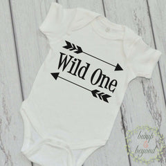 Wild One Shirt Birthday Outfit First Birthday Shirt Baby Boy Birthday Arrow Bodysuit READY TO SHIP 025 - Bump and Beyond Designs