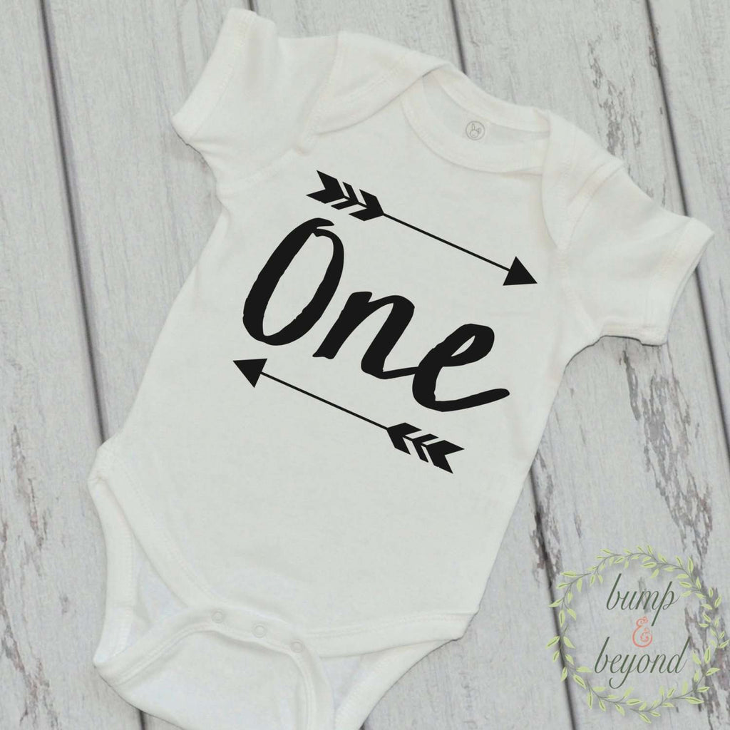 First Birthday Baby Boy Bodysuit, One - Bump and Beyond Designs