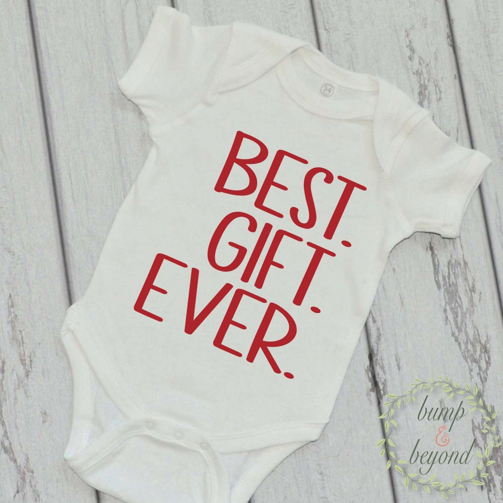 Newborn Christmas Outfit Baby Boy Christmas Outfit Baby's 1st Christmas Red White Christmas One Piece Infant Boy Christmas Best Gift 005b - Bump and Beyond Designs