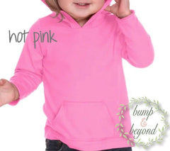 Four and Fabulous, 4th Birthday Girl Hoodie, Turquoise or Pink - Bump and Beyond Designs