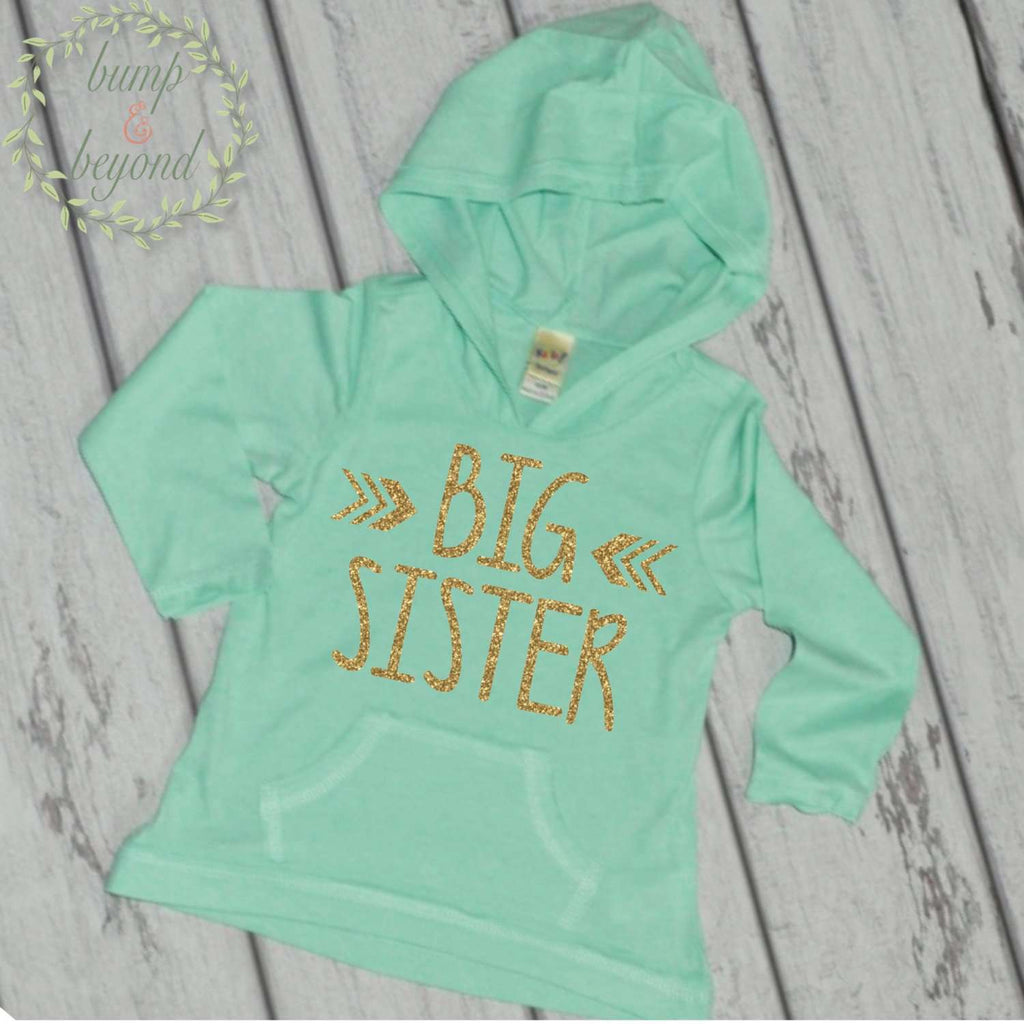 Pregnancy Announcement Big Sister Hoodie Bump and Beyond Designs Big Sister Shirt