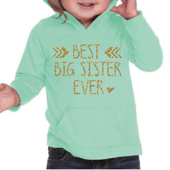 Big Sister Shirt Sibling Big Sister Gift Hoodie Big Sister Little Big Sister Announcement Shirt Gold Big Sister Outfit 125 - Bump and Beyond Designs