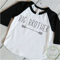 Big Brother Shirt Hipster Big Brother Gift Big Brother Little Brother Announcement Shirt Modern Arrow Big Brother Outfit 129 - Bump and Beyond Designs