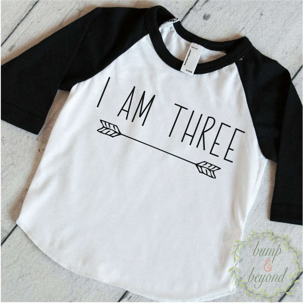 Three Year Old Birthday Shirt Boy 3 Years Outfit Raglan Toddler 3rd