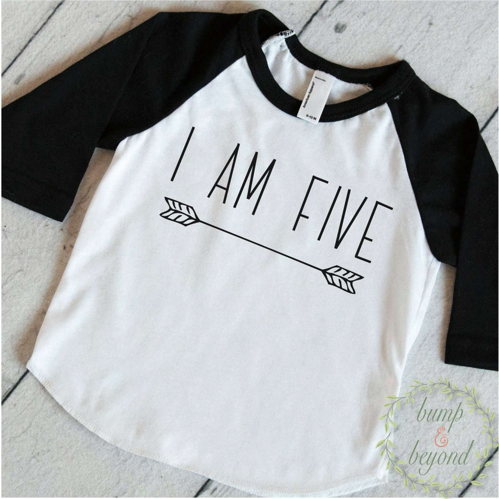I Am Five Birthday Shirt - Bump and Beyond Designs