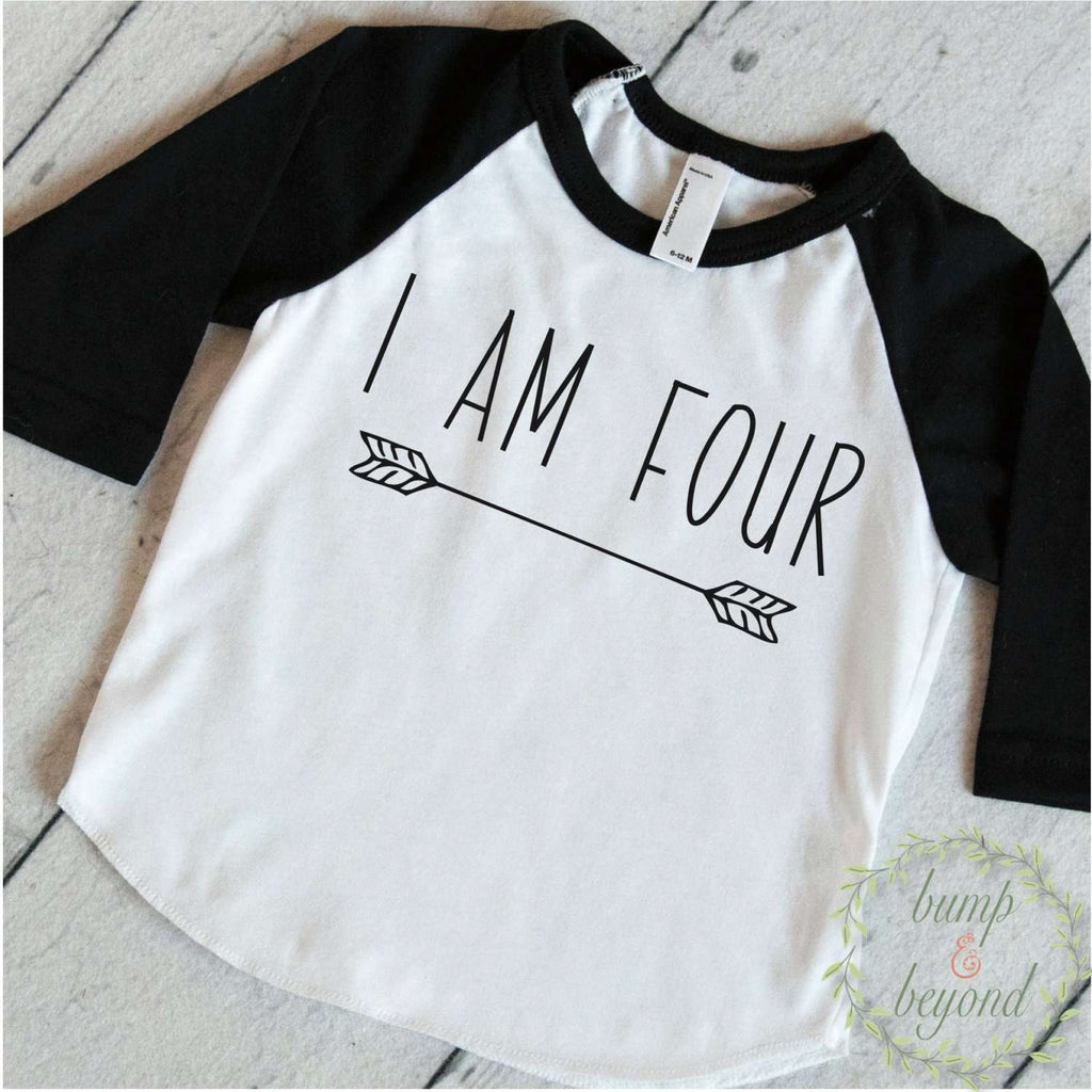 Four Year Old Birthday Shirt Boy 4 Years Outfit Raglan Toddler 4th