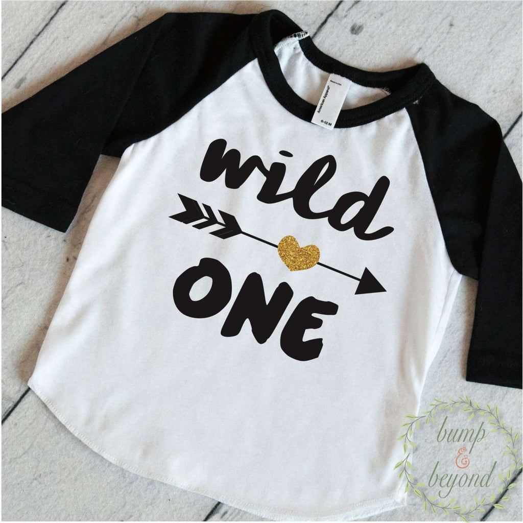Wild One Girl First Birthday Shirt 1 Year Old Birthday Shirt Girl One U2013 Bump And Beyond Designs