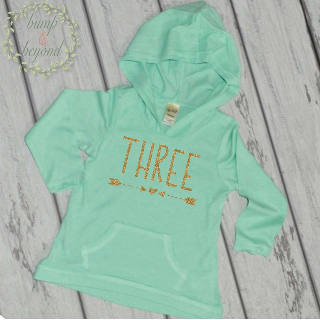 Girl Third Birthday Shirt 3rd Shirts For Girls Three Year Old Outfit Hoodie