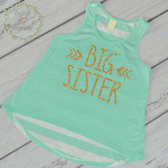 Big Sister Shirt Sibling Big Sister Tank Top Little Sister Shirts Big Sister Shirt Pregnancy Baby Announcement Shirt 015 - Bump and Beyond Designs