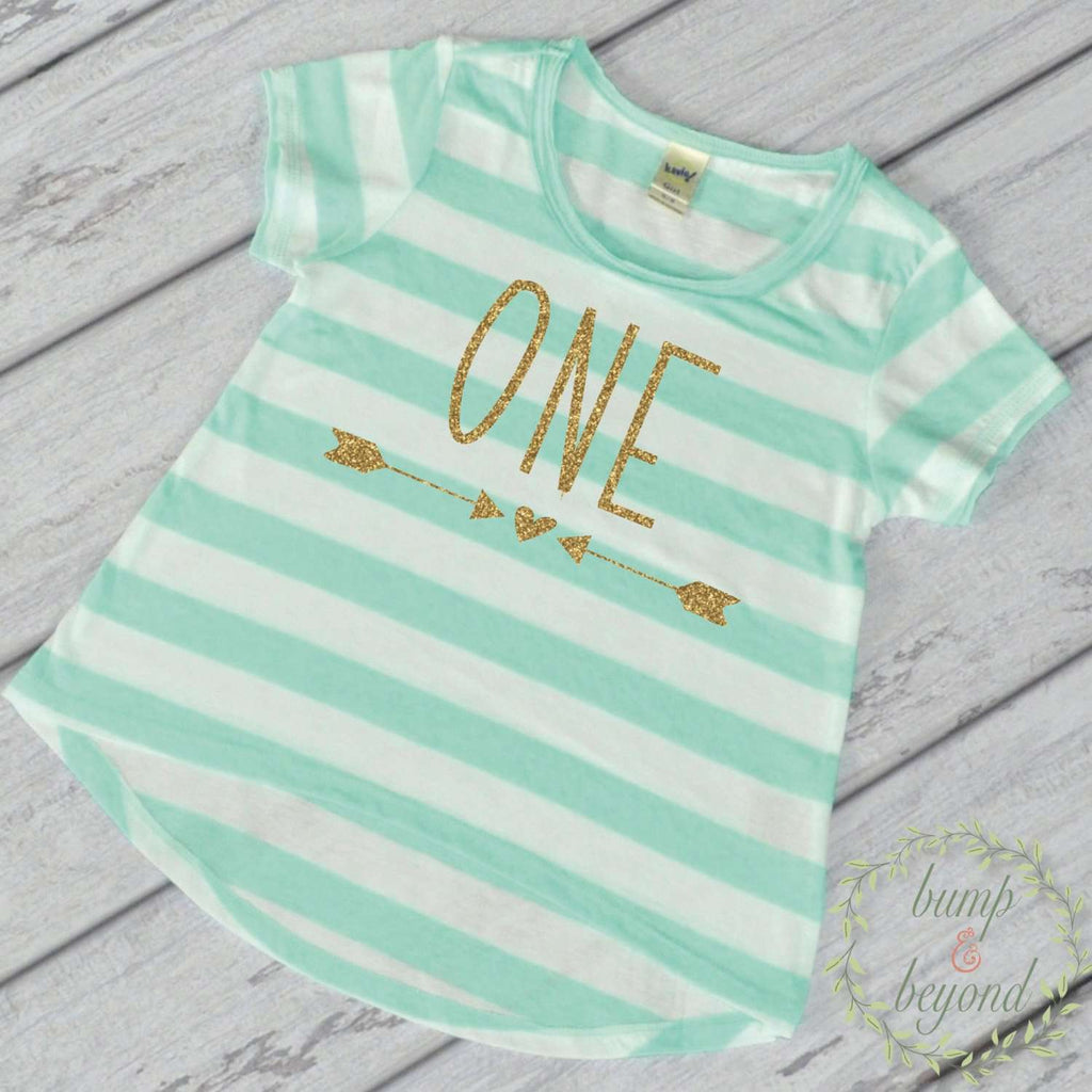 Girl First Birthday Shirt 1 Year Old One Outfit Toddler T 1st Green 133