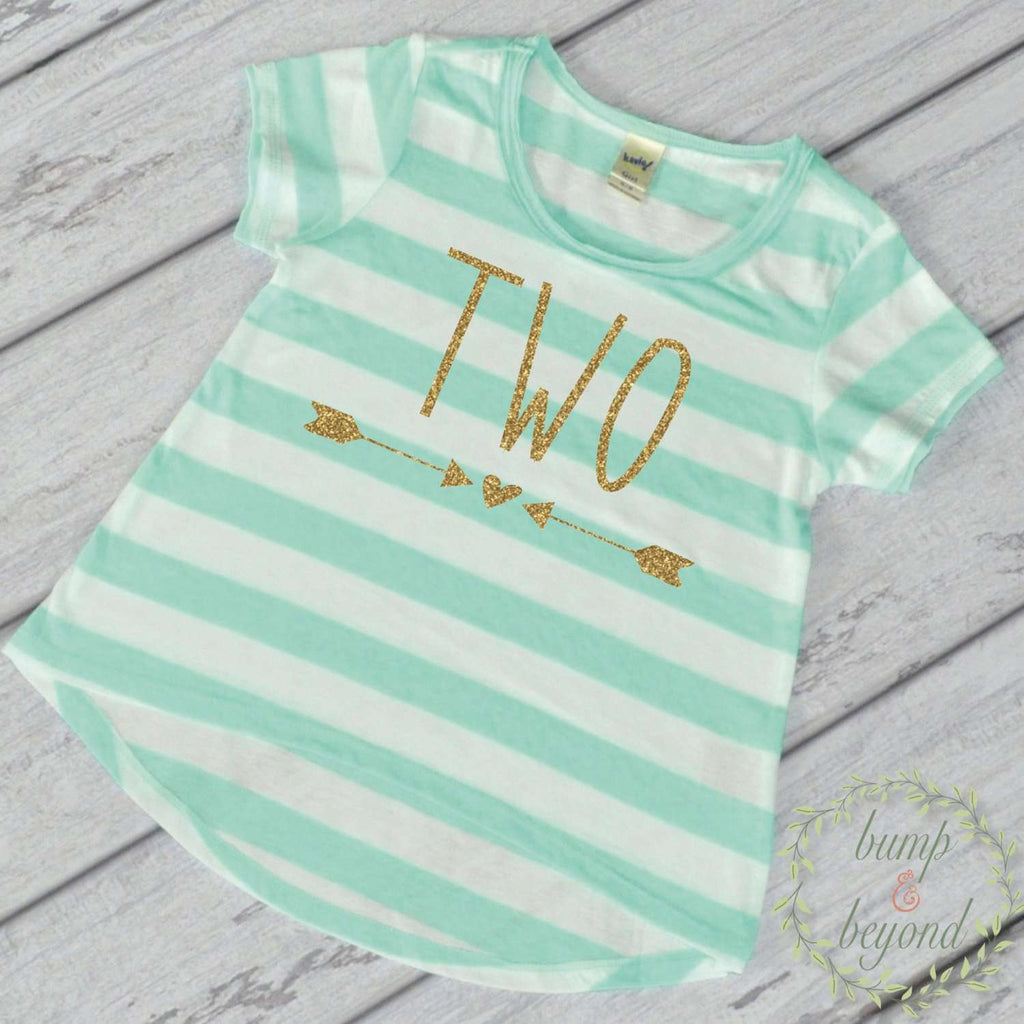 Girl Second Birthday Shirt 2 Year Old Two Outfit