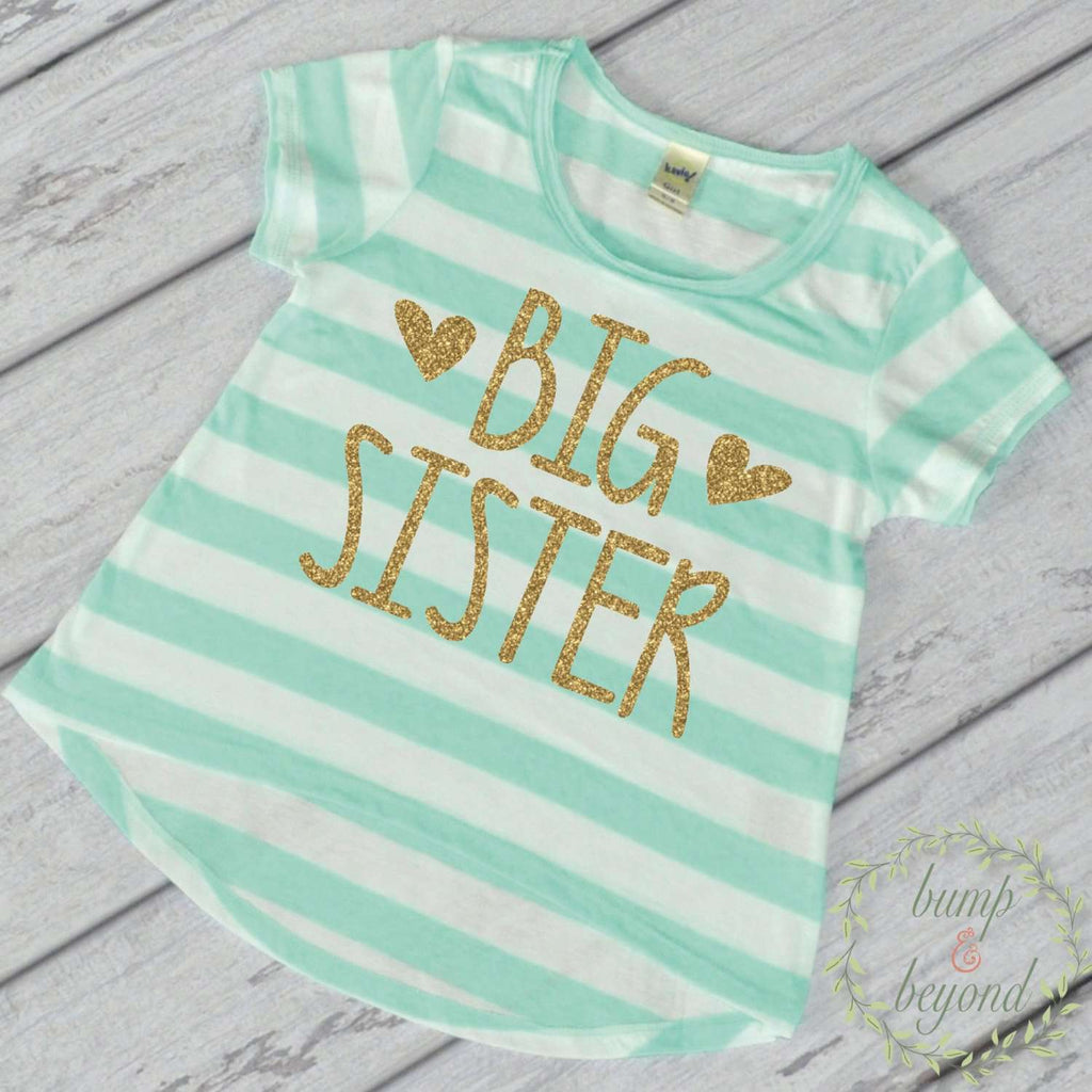 Big Sister Shirt, Big Sister Gift, Sibling T-Shirt 134 - Bump and Beyond Designs