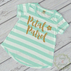 Flower Girl Shirt Petal Patrol Shirt Gold Glitter Flower Girl Shirt Flower Girl Wedding Rehearsal Shirt Glitter Flower Girl Shirt 148 - Bump and Beyond Designs