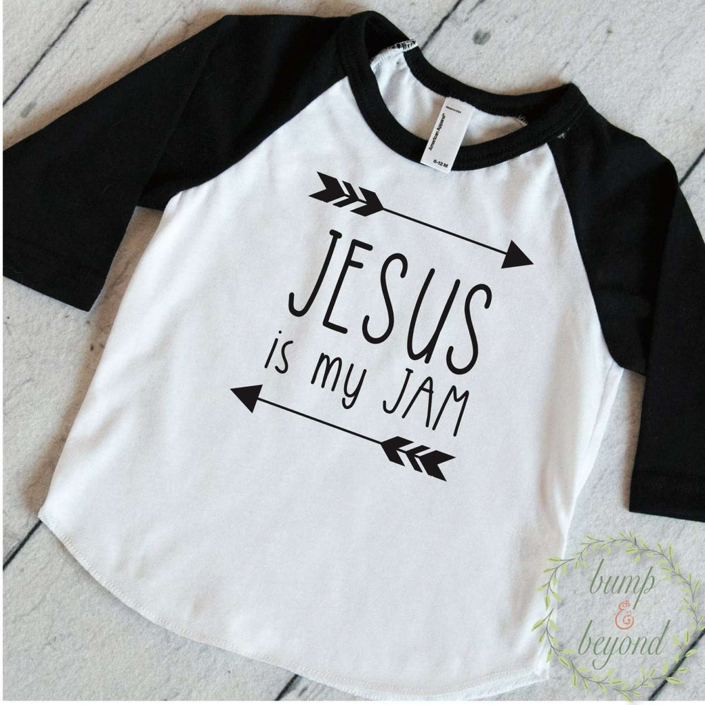 Toddler T-Shirt Trendy Kids Clothes Jesus Is My Jam Shirt Toddler Boy Shirts Hipster Kids Clothes Christian Clothing 172 - Bump and Beyond Designs