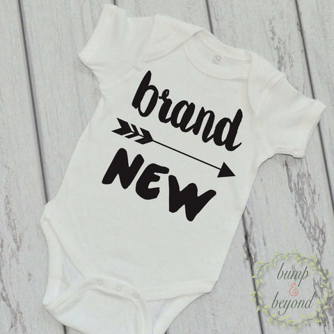 Birth Announcement Shirt Brand New Boy Newborn Outfit Just Arrived Shirt Take Home Outfit Baby Shower Gift Boy Clothes Hipster Shirt 051 - Bump and Beyond Designs