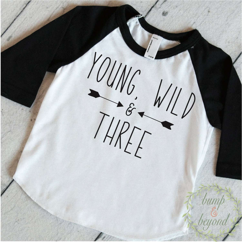 Young Wild & Three Boy T-Shirt, Double Arrow - Bump and Beyond Designs