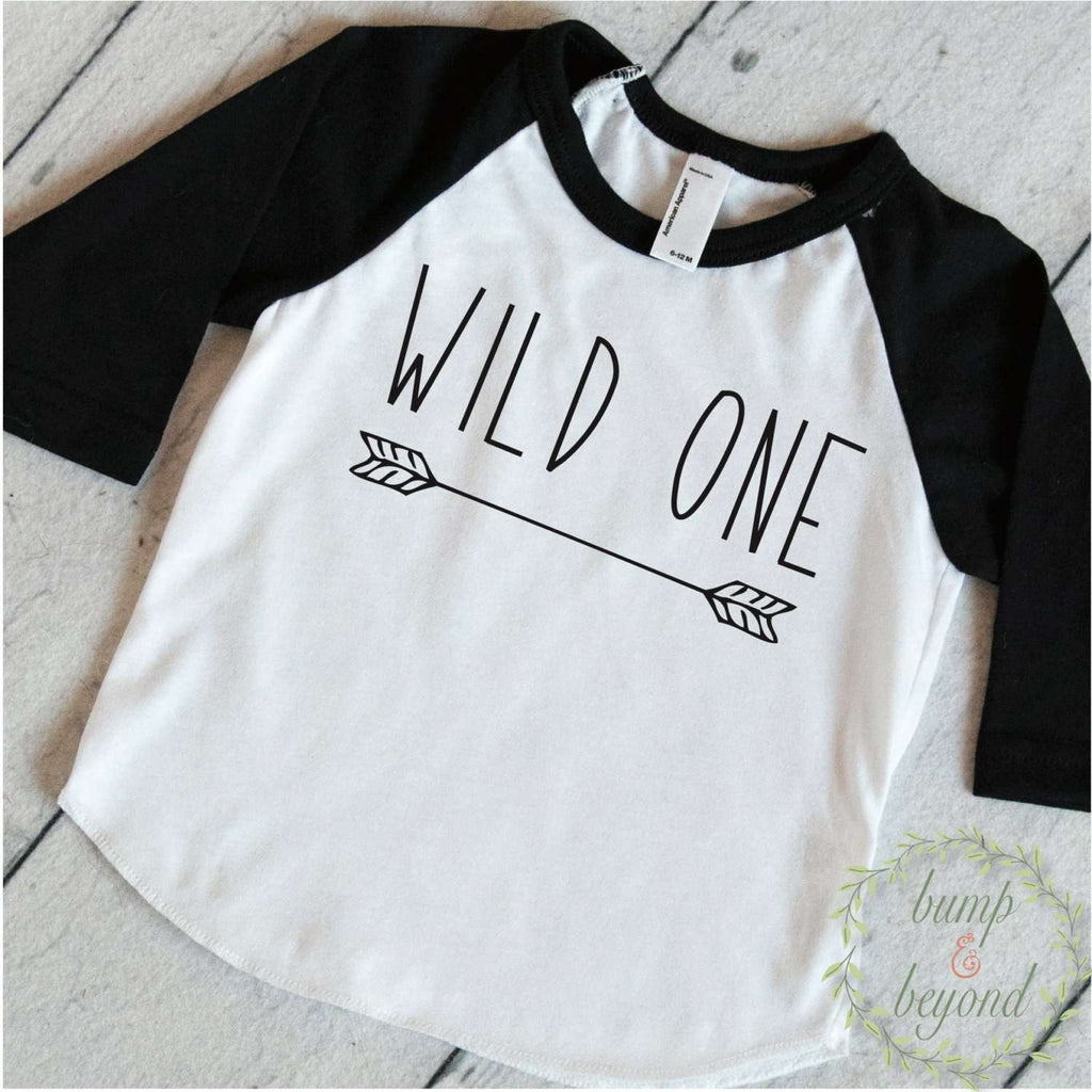 Wild One First Birthday Shirt Boy 1st Arrow Hipster Clothes Toddler