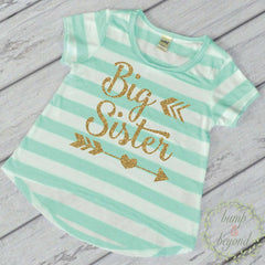 Big Sister Shirt Big Sister Announcment Shirt Big Sister Little Sister Outfits Big Sister Gift T-Shirt 127 - Bump and Beyond Designs