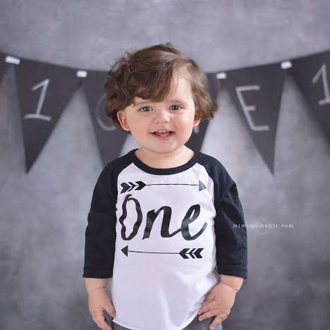 Boy First Birthday Shirt One Birthday Party Shirt Boy 1st Birthday Shirt Arrow Hipster Boy Clothes Girl Birthday 014 - Bump and Beyond Designs