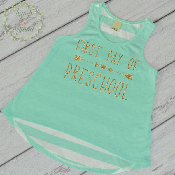 First Day of Preschool Shirt Toddler Girl Preschool Shirt 1st Day of School Outfit Preschool Tank Top Back to School Shirt My First Day 237