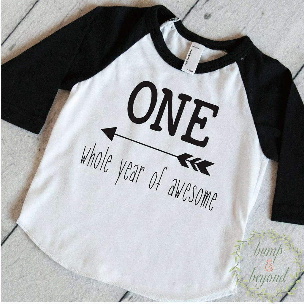 One Whole Year of Awesome, First Birthday Boy Shirt - Bump and Beyond Designs