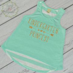 Girls Back to School Shirt 1st Day of Kindergarten Outfit My First Day of School Tank Top Girls Back to School Shirt 238 - Bump and Beyond Designs