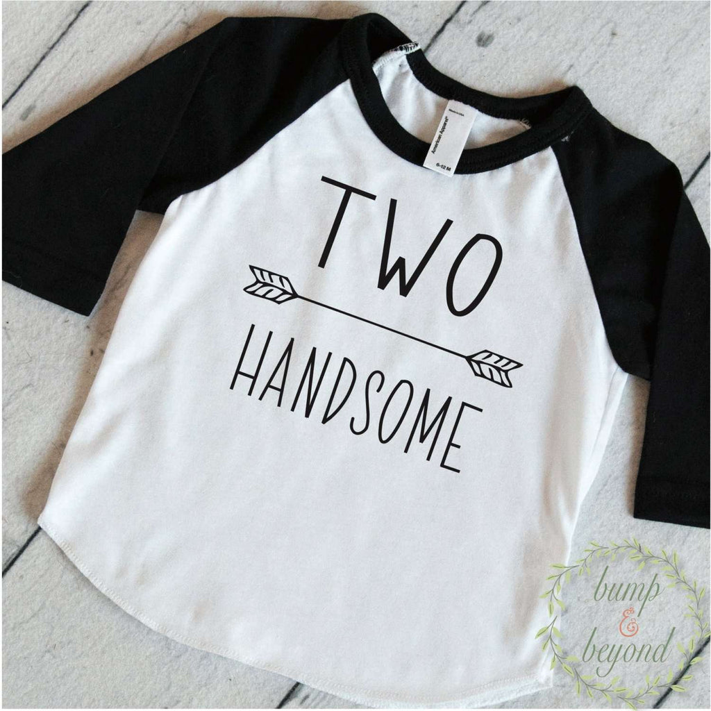 Birthday Shirt 2 Year Old Birthday Shirt 2nd Birthday Boy Shirt Two Handsome Birthday Shirt Second Birthday Boy Shirt 243 - Bump and Beyond Designs