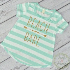 Beach Babe Shirt Beach Shirt Kids Beach Shirt Baby Girl Clothes Summer Vacation Shirt Toddler Girl Summer T-Shirt Beach Babe 245 - Bump and Beyond Designs