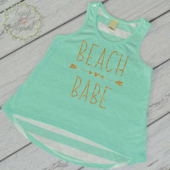 Beach Babe Shirt Summer Vacation Shirt Beach Shirt Toddler Girl Clothes Kids Beach Shirt Baby Girl Clothes Summer T-Shirt Spring Break 245 - Bump and Beyond Designs