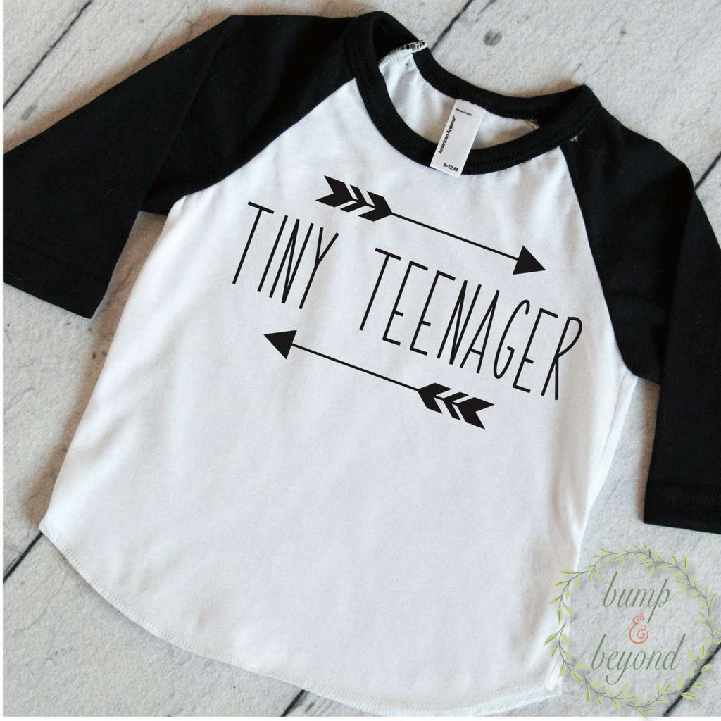 Toddler T-Shirt Baby Boy Clothes Tiny Teenager Toddler Trendy Kids Clothes Children's Clothes Toddler Boy Shirts Hipster Kids Clothes 173 - Bump and Beyond Designs