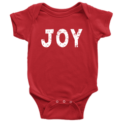 Joy Onesie, Baby's 1st Christmas Bodysuit - Bump and Beyond Designs