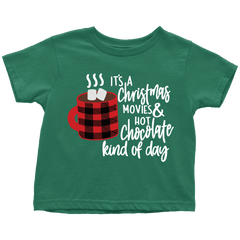 Youth Christmas Movie and Hot Chocolate T-Shirt - Bump and Beyond Designs