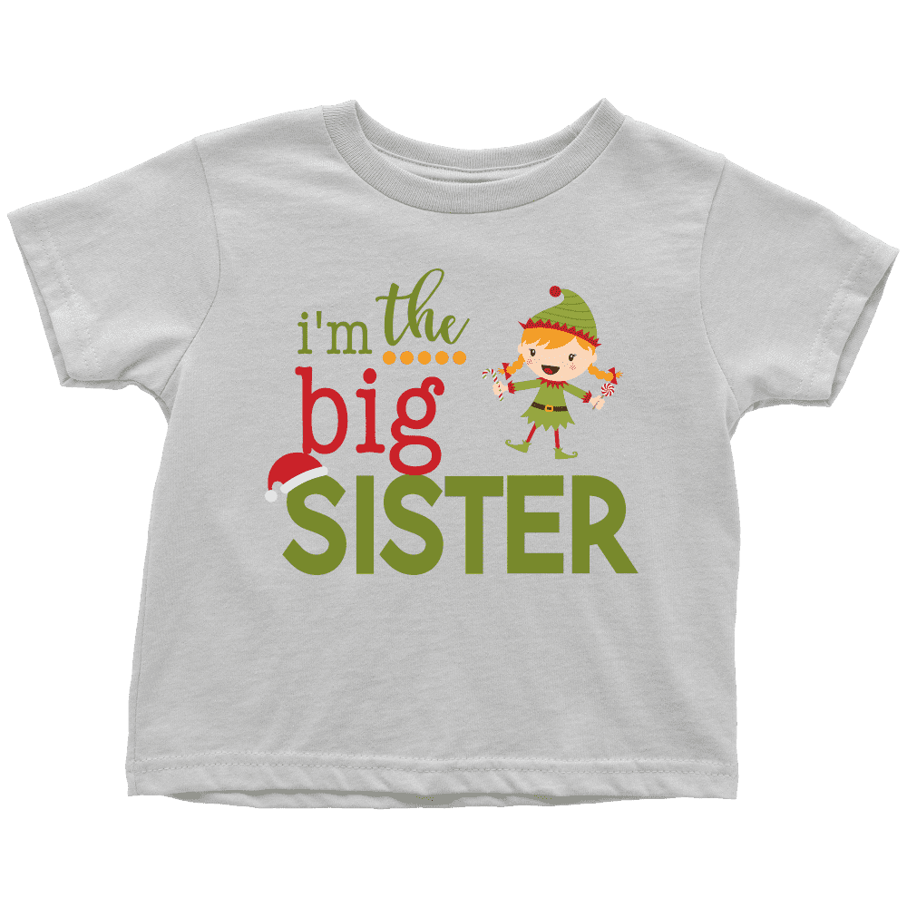 Big Sister Christmas Shirt, Pregnancy Announcement, Elf Shirt - Bump and Beyond Designs